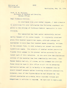 Letter from J. A. Hill to Walter F. Wilcox