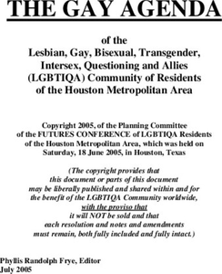 Gay Agenda of the Lesbian, Gay, Bisexual, Transgender, Intersex, Questioning, and Allies (LGBTIQA) Community of Residents of the Houston Metropolitan Area
