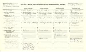Student family histories: Wynn, Joseph