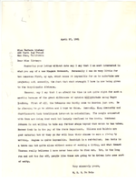 Letter from W. E. B. Du Bois to Barbara Lindsay