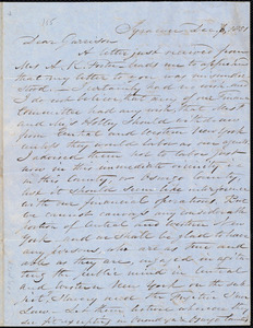 Letter from Samuel Joseph May, Syracuse, [N.Y.], to William Lloyd Garrison, Dec[ember] 6, 1851