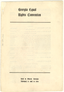 Georgia Equal Rights Convention program