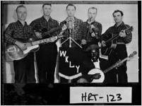 [Photograph of Ray Boleman's String Band on radio station WKLY, Hartwell, Hart County, Georgia, ca. 1948]