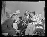 Musicians William Grant Still, L. Wolfe Gilbert, W. C. Handy, Frank Drye and Andy Razaf in Los Angeles, Calif., circa 1954