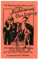 """""""Reclaiming Our Legacy"""" The 6th Annual Black Arts Festival pamphlet cover"""