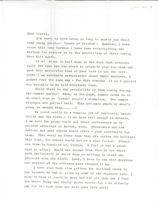Letter from Ellie Sunderman to Gloria Xifaras Clark