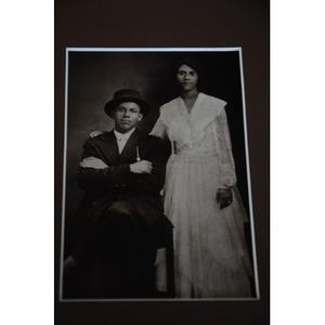 African American couple in formal wear