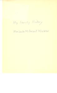 Thumbnail for Student family histories: Walker, Leola Grant (Wells)