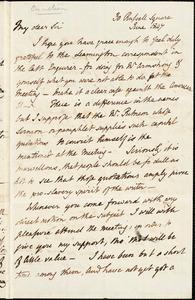 Letter from Henry Crabb Robinson, London, [England], to John Bishop Estlin, 1847 June-November 30