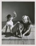 Actress Dorothy Dandridge (left) with dance instructor Olga Lunick, circa 1951