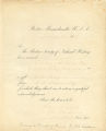 Box 9, Folder 1: Correspondence 1858