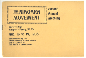 Niagara Movement Second Annual Meeting program