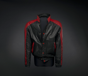 Black and red leather jacket worn by Kurtis Blow
