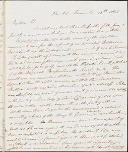 Letter from Johnn Bishop Estlin, Bristol, [England], to Richard Davis Webb, 1845 November 13