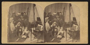 Hospital scene at Fortress Monroe, Va.