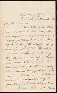 Letter from Oliver Johnson, New York, [N.Y.], to William Lloyd Garrison, 14 March, 1863