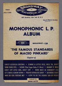 Advertisement for a Maceo Pinkard record