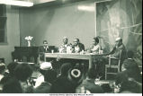 """""""Role of the Black Writer"""" panel at New York Public Library, Countee Cullen Branch, New York, N. Y., May 1963"""