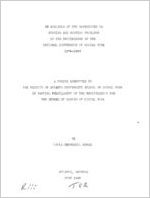An analysis of the references to housing and housing problems in the proceedings of the national conference of social work 1874-1943