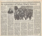 At epicenter of labor, black history
