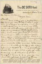 Letter from Homer Dampeer