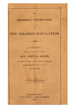The religious instruction of the colored population a sermon /