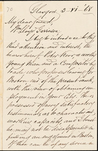 Letter from William Smeal, Glasgow, [Scotland], to William Lloyd Garrison, 1868
