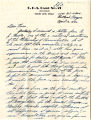 Vernon Ross Jr. letter To Norio Higano about his objections to Executive Order 9066, and his religious objection to the war on April 12, 1942