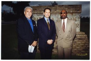 [Mario Salas with Mayor Ed Garza and James Howard] Mario Marcel Salas Papers