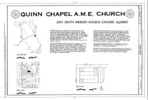 Quinn Chapel A.M.E. Church, 2401 South Wabash Avenue, Chicago, Cook County, IL