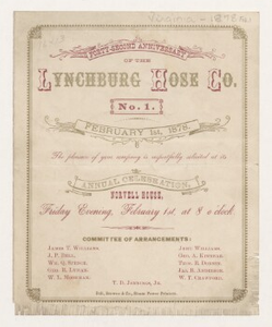 Forty-Second Anniversary of the Lynchburg Hose Company