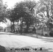 West Allegan Street looking west from Huron Street.