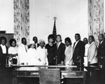 Compton mayor with friends and family