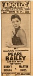 Pearl Bailey [newspaper advertisement]