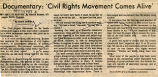 Documentary: 'civil rights movement comes alive'