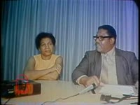 WSB-TV newsfilm clip of African American leader Joseph E.Boone speaking for victims of police assault in Columbus, Georgia, 1971 June 24