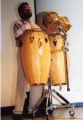 Selwyn Jones playing the drums