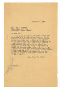 Letter from W. E. B. Du Bois to Alva B. Johnson