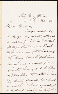 Letter from Oliver Johnson, New York, [N.Y.], to William Lloyd Garrison, 18 Feb[ruary], 1864