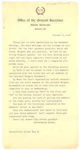 Niagara Movement secretarial letter No. 2