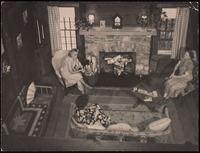 Interior of Five Acres: Dorothy Peterson, Frances Grant and Grace Nail Johnson
