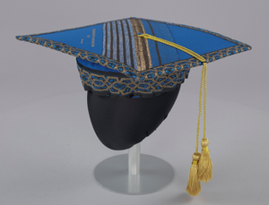 Academic cap worn by Dr. Johnnetta B. Cole at Bennett College