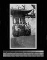 Members of the Community Chorus waiting to go to practice, Shanghai, China, ca.1921