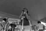 "Delta Blues Festival: Performers on stage, cameraman, Roosevelt ""Booba"" Barnes (DBFP #248)"