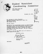 Letter: Atlanta, Georgia, to Benjamin E. Smith, New Orleans, Louisiana, 1961 November 20