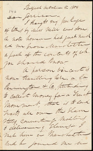 Letter from Parker Pillsbury, Belfast, [Ireland], to William Lloyd Garrison, October 5. 1854