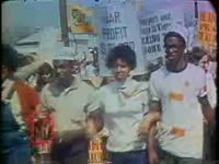 Series of WSB-TV newsfilm clips of a peace and civil rights rally, Atlanta, Georgia, 1968 April 6