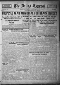 The Dallas Express (Dallas, Tex.), Vol. 31, No. 23, Ed. 1 Saturday, April 26, 1924 The Dallas Express