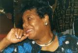 Maya Angelou sitting in an auditorium (3 of 3)