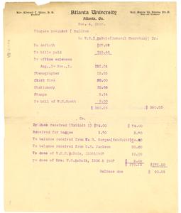 Financial Statement of Niagara Movement, November 1907 Copy 2